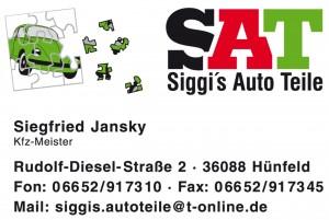 Logo SAT mit Adresszeile
